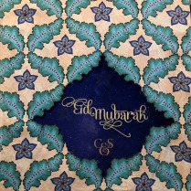 A print taken from their Palace Collection was used for the Eid Greetings.